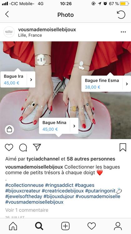 Instagram shopping story