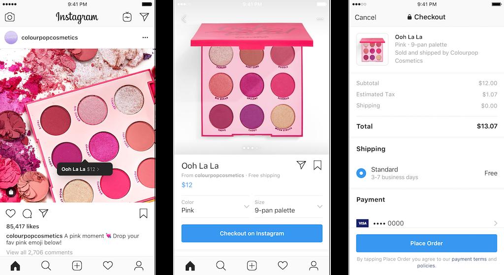 Exemple Instagram Paiement
