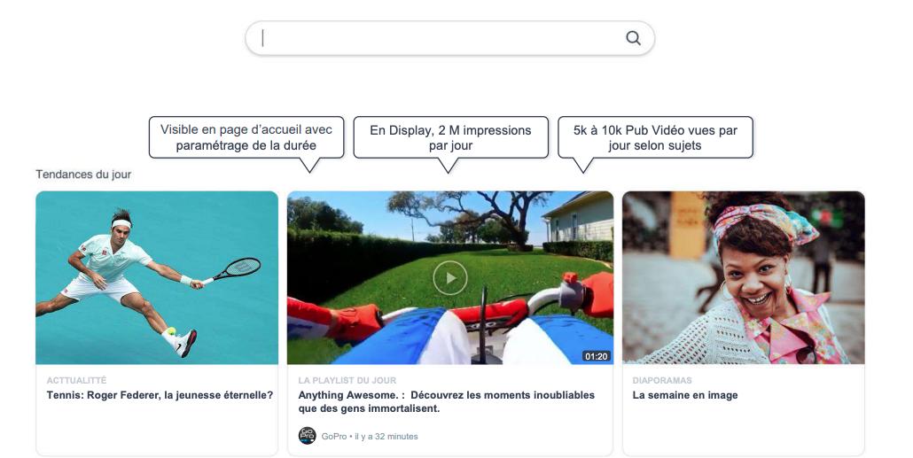 Display vidéo Qwant