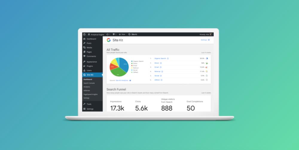 Aperçu du Google Site Kit Plugin pour Wordpress